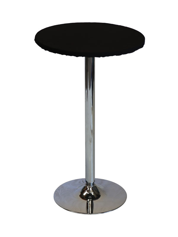24 Round Black Top Chrome Belly Up Table Belly Up Tables