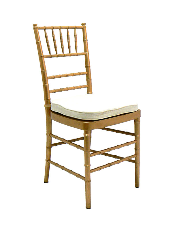 Gold Chiavari Chair W Cushion Chairs