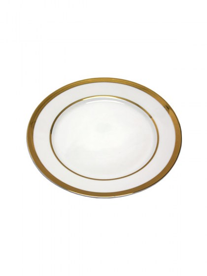 Gold Trim Dinner Plate 10.75 in  sc 1 st  Abbey Party Rentals & White with Gold Trim Dinnerware