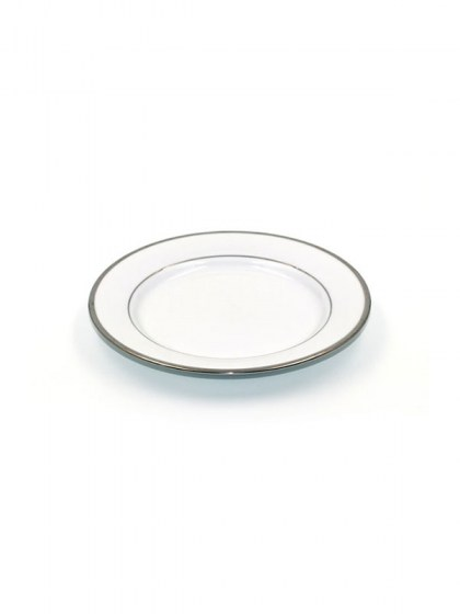 Platinum Trim White China Salad Plate 7.5 in  sc 1 st  Abbey Party Rentals & Dinnerware for Unique Placement Settings from modern to traditional