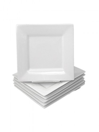 White Square Salad Plate 7.5 in. $0.85. Discount  sc 1 st  Abbey Party Rentals & Dinnerware for Unique Placement Settings from modern to traditional