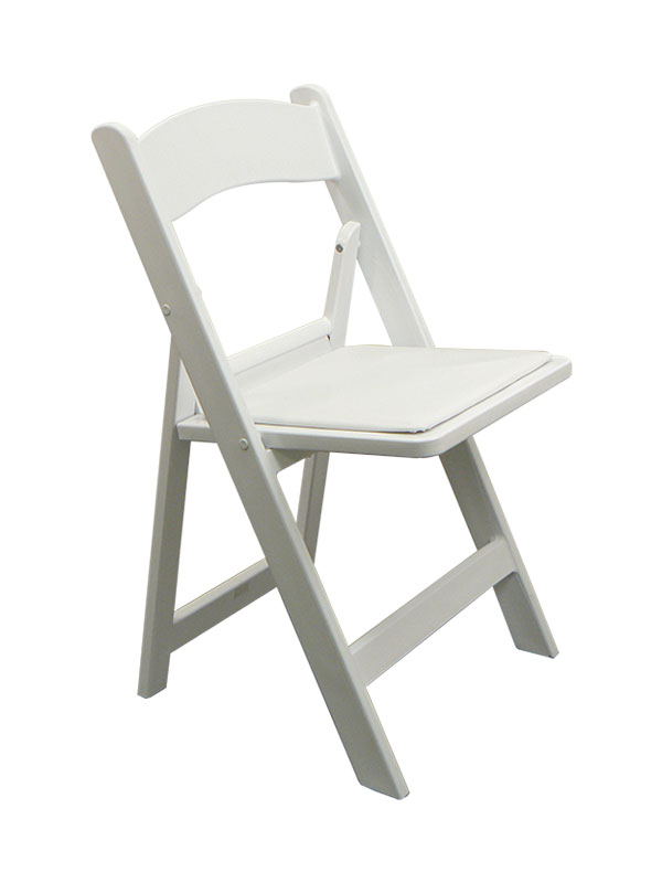 White Resin Chair W Padded Seat Wood Resin Chairs